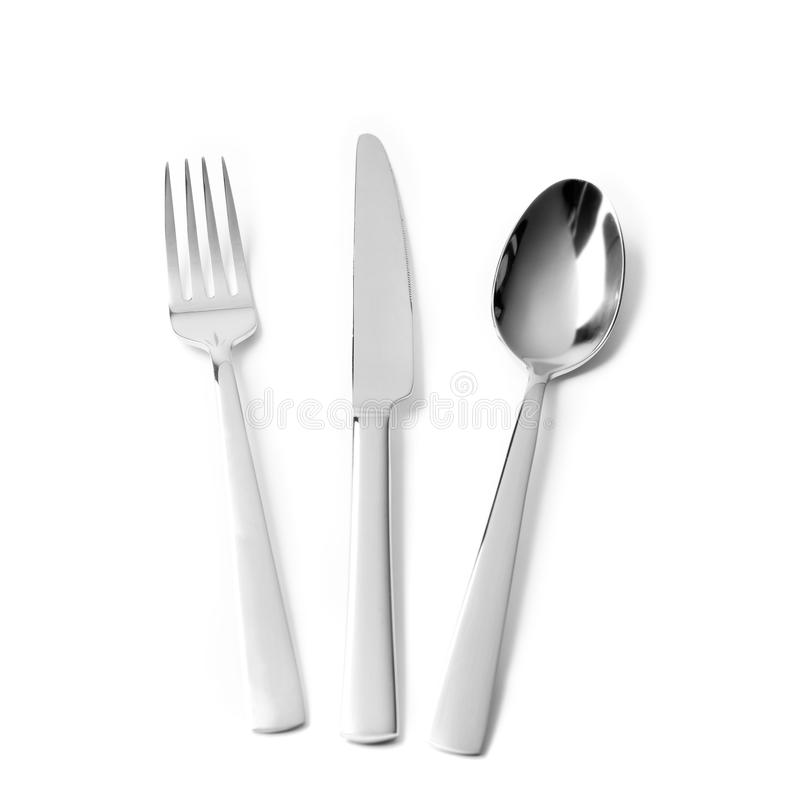 Free Cutlery On White Background Stock Photos - 85203303