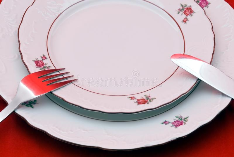 Download Cutlery on plate stock photo. Image of fork, knife, spoon - 13210228