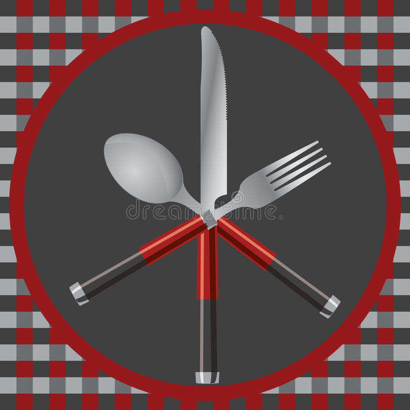 Download Cutlery and plate stock vector. Image of illustration - 21949340