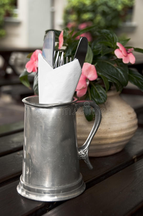 Download Cutlery in a pub stock image. Image of table, simple - 20328557