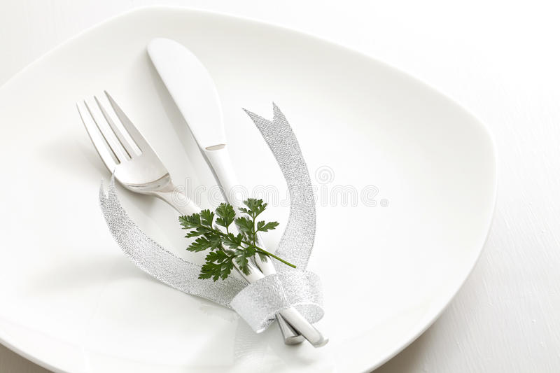 Download Cutlery, ribbon stock image. Image of dining, knife, objects - 33368407