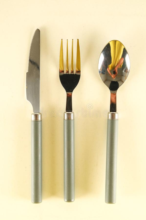 Cutlery set flatware photographie stock libre de droits