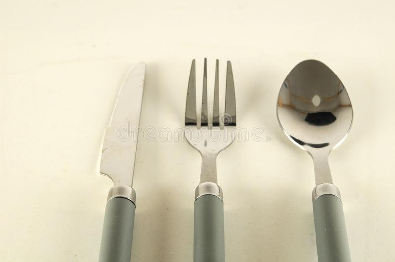 Cutlery set flatware image stock