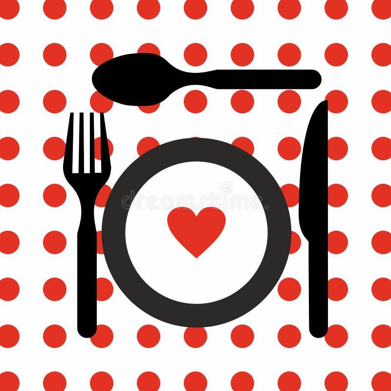 Cutlery set kitchen restaurant equipment vector icon. Spoon knife fork plate vector illustration