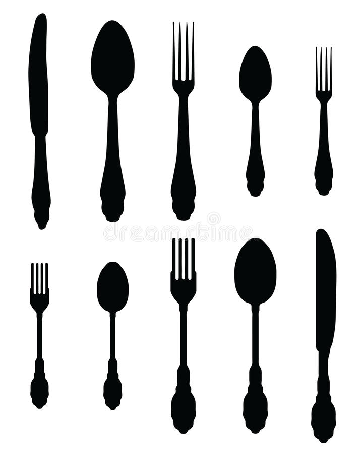 Download Cutlery stock illustration. Illustration of restaurant - 32103996