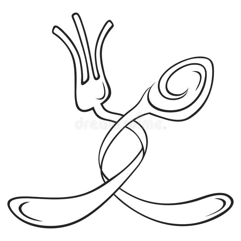 Cutlery symbol stock photo