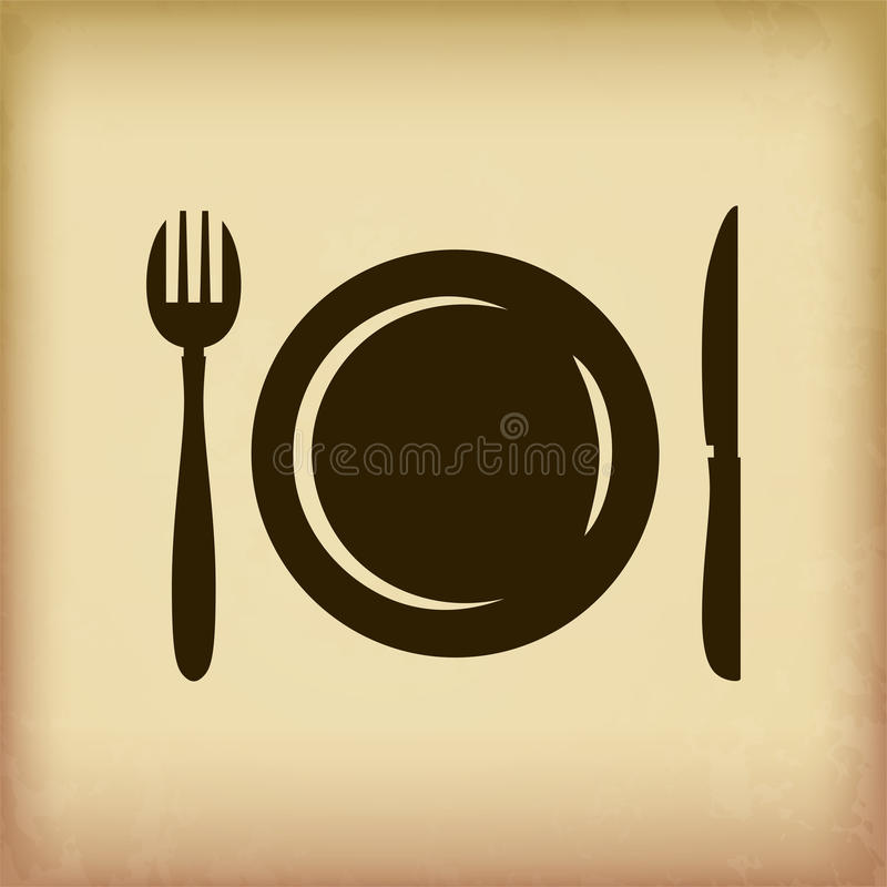 Cutlery symbol royalty free illustration