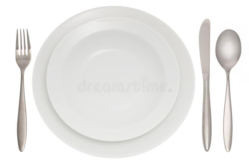 cutlery talerz fotografia royalty free