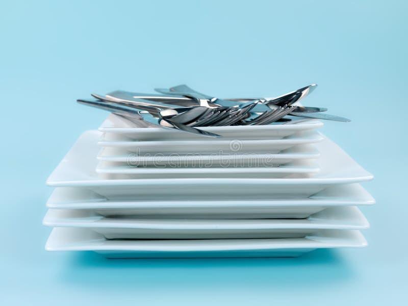 cutlery talerze obraz royalty free