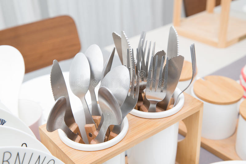 Cutlery w szkle fotografia royalty free