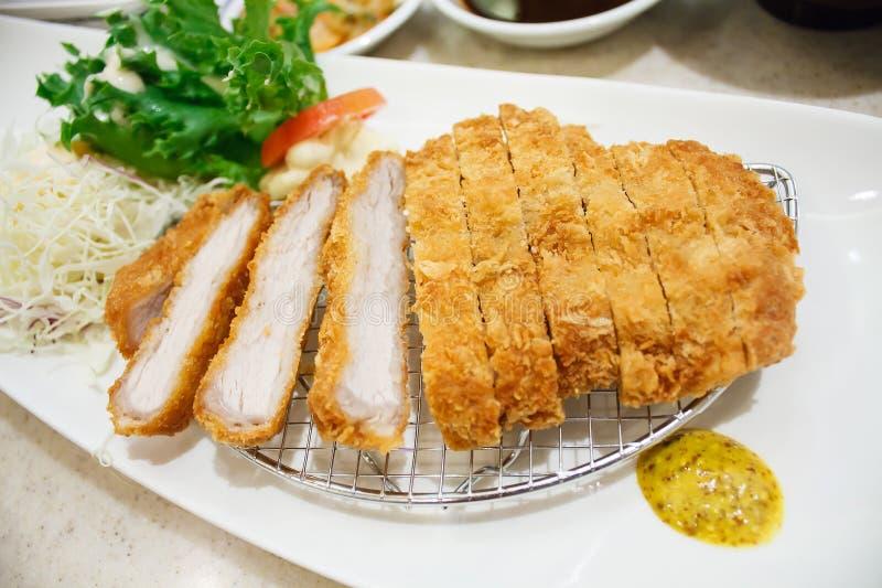 Cutlet χοιρινού κρέατος, ιαπωνικό tonkatsu ύφους τροφίμων στοκ φωτογραφίες με δικαίωμα ελεύθερης χρήσης