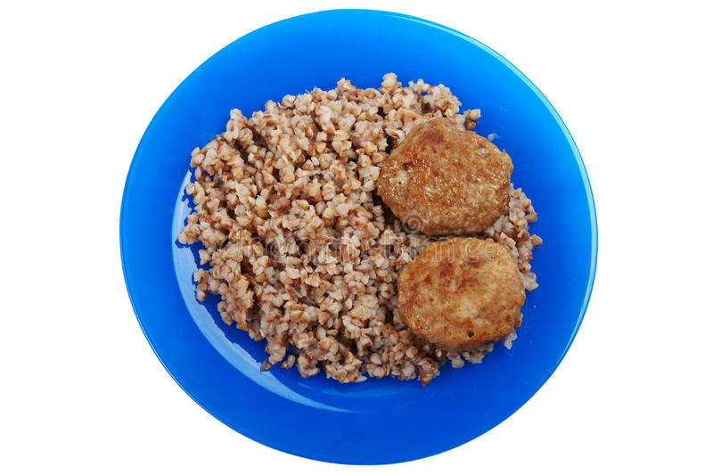 Download Cutlet buckwheat food stock photo. Image of gourmet, grilled - 11770276