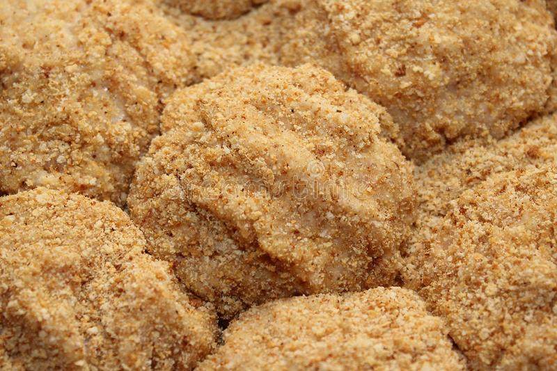 Cutlets in breadcrumbs for a healthy diet stock image
