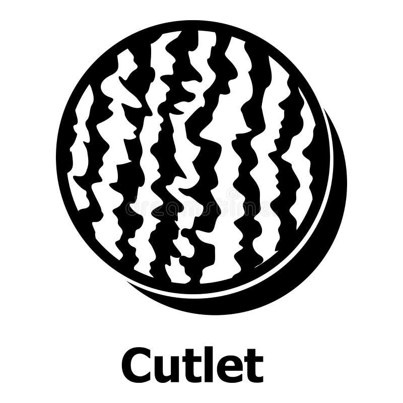 Cutlets ikona, prosty czerń styl royalty ilustracja