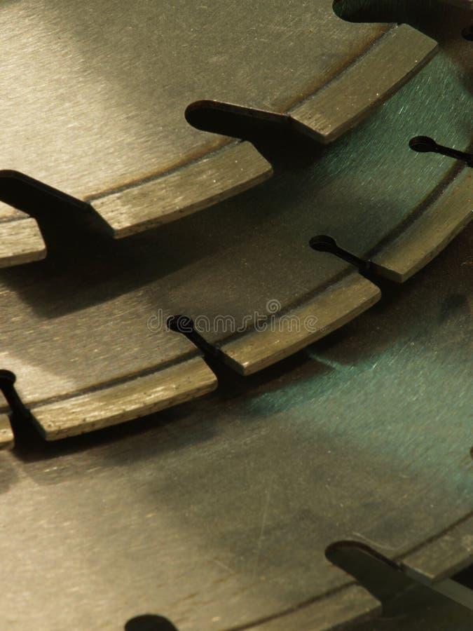 Cutoff disks royalty free stock photo