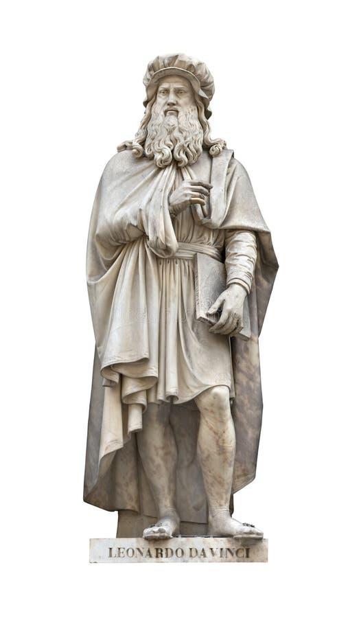 Cutou de la estatua de Leonardo Da Vinci fotos de archivo