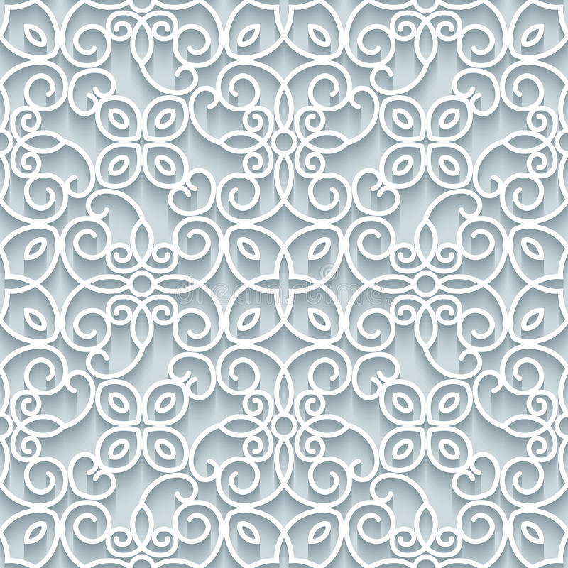 Cutout paper lace texture, seamless pattern. Cutout paper lace texture, lacy ornament, seamless pattern in neutral color royalty free illustration