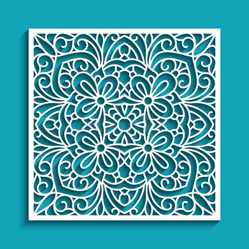 Free Cutout Paper Ornament, Lace Pattern Royalty Free Stock Image - 100060146