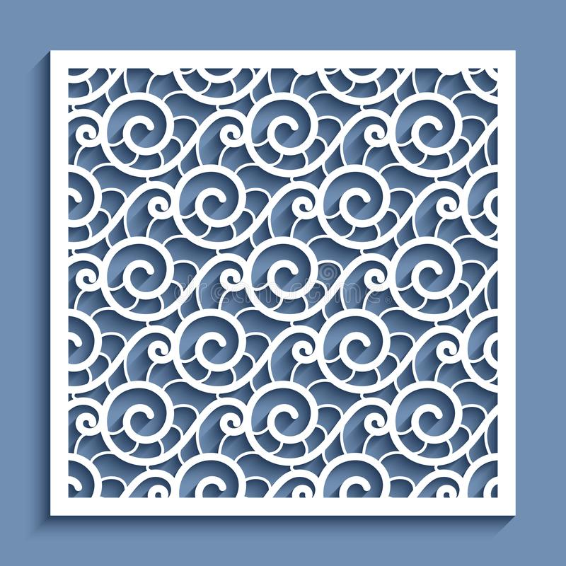 Free Cutout Paper Panel With Wavy Lace Pattern Stock Image - 111310731