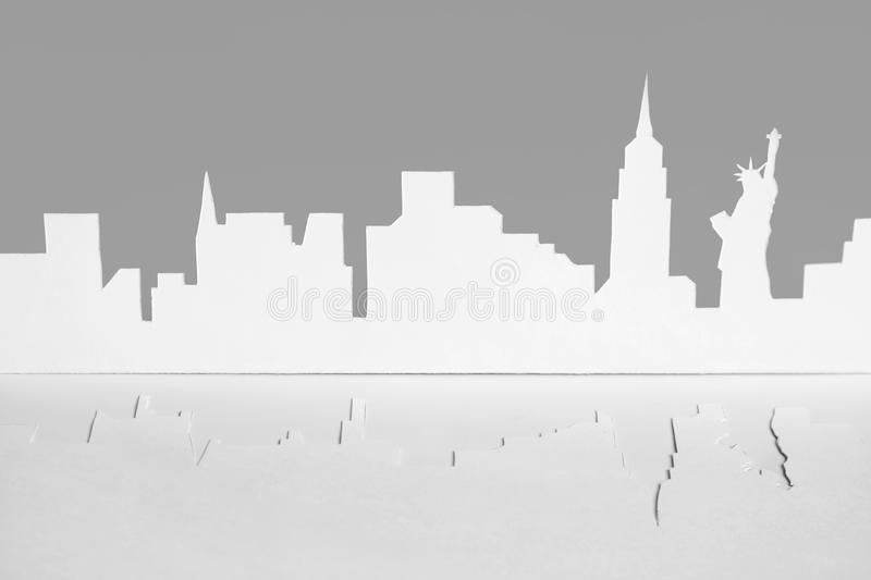 Download Cutout Paper Silhouette Of New-York City, USA Stock Photography - Image: 18895792