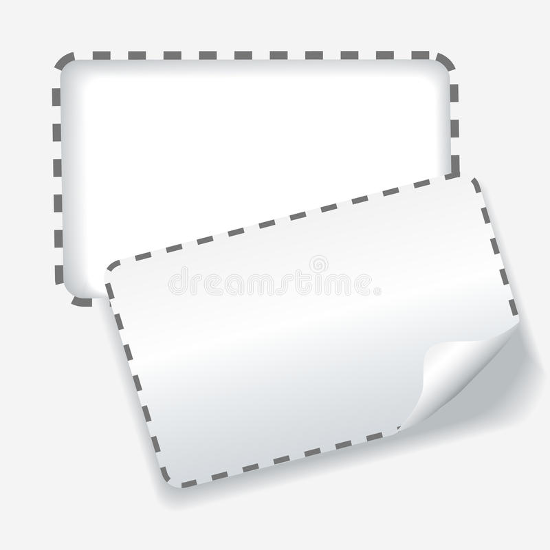 Cutout rounded coupon dotted line background royalty free illustration