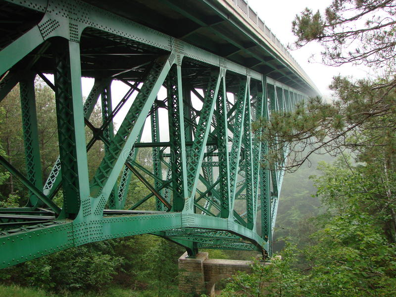 Cutriver Bridge Michigan's upper peninsula stock photography