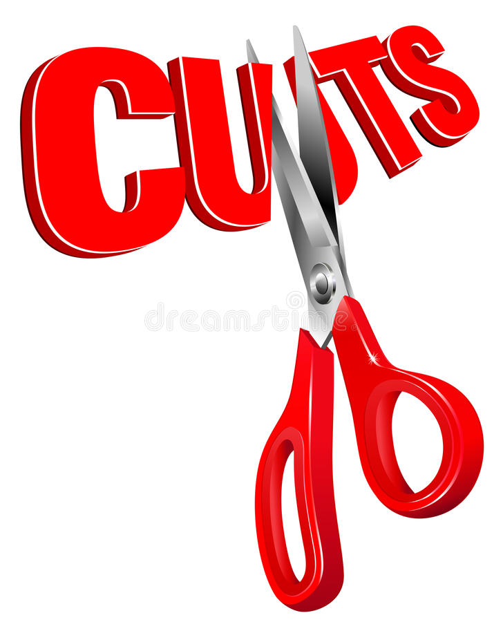 Download Cuts stock vector. Image of unemployment, backs, scissors - 18563764