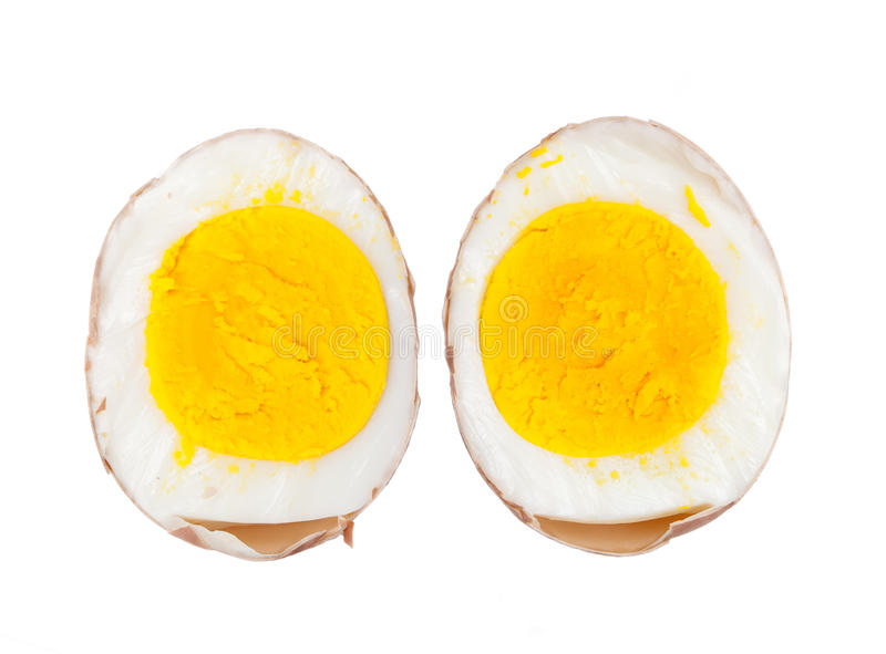 Cuts boiled egg royalty free stock photography