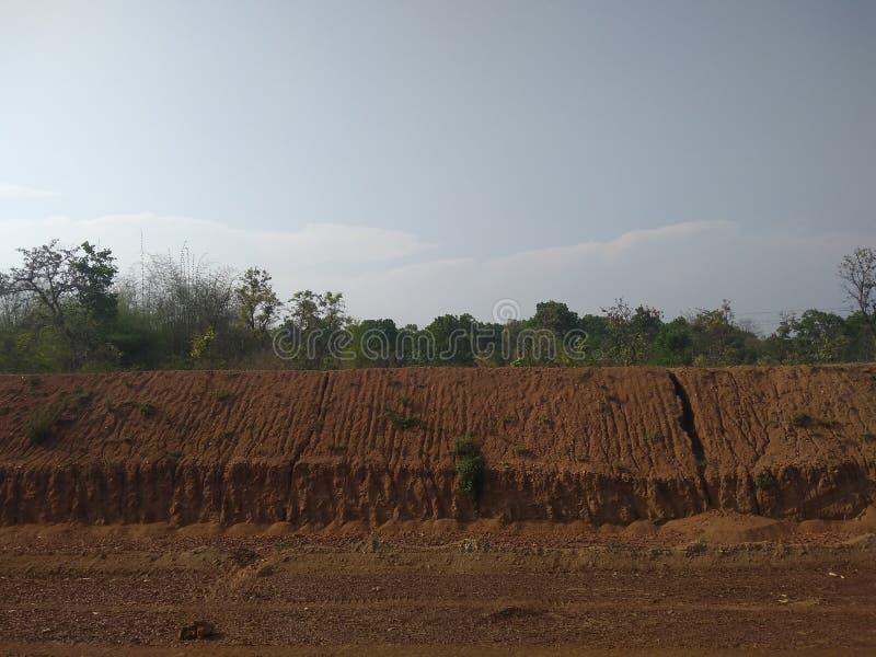 cutted的橙色土壤雨 库存图片