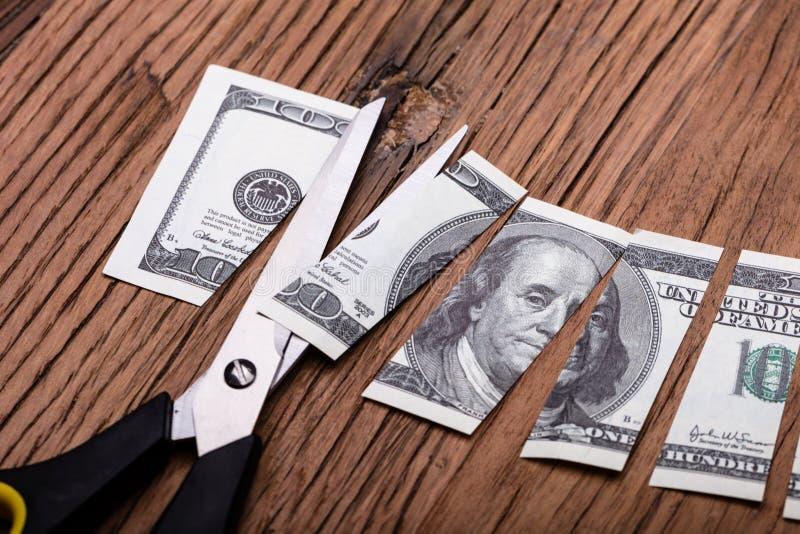 Cutted Dolarowy banknot, No?ycowy I obrazy royalty free