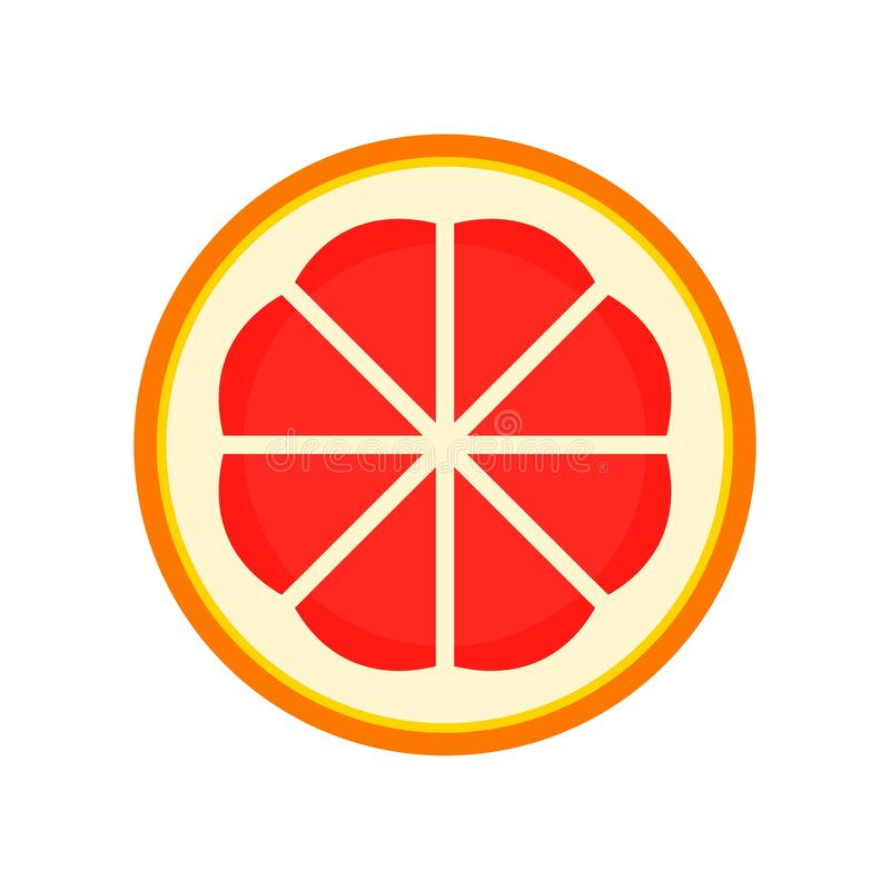 Cutted grapefruit icon, flat style. Cutted grapefruit icon. Flat illustration of cutted grapefruit vector icon for web design royalty free illustration