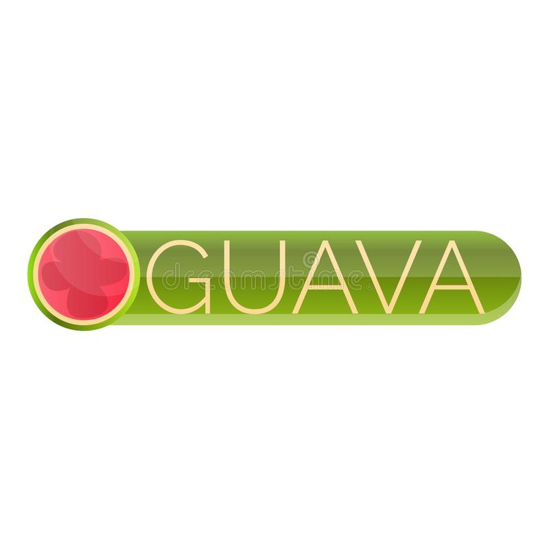 Cutted guavalogo, tecknad filmstil stock illustrationer