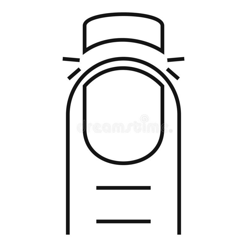 Cutted nail icon, outline style. Cutted nail icon. Outline cutted nail vector icon for web design isolated on white background vector illustration