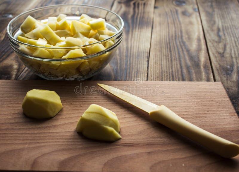 Cutted potatisträbräde royaltyfria foton