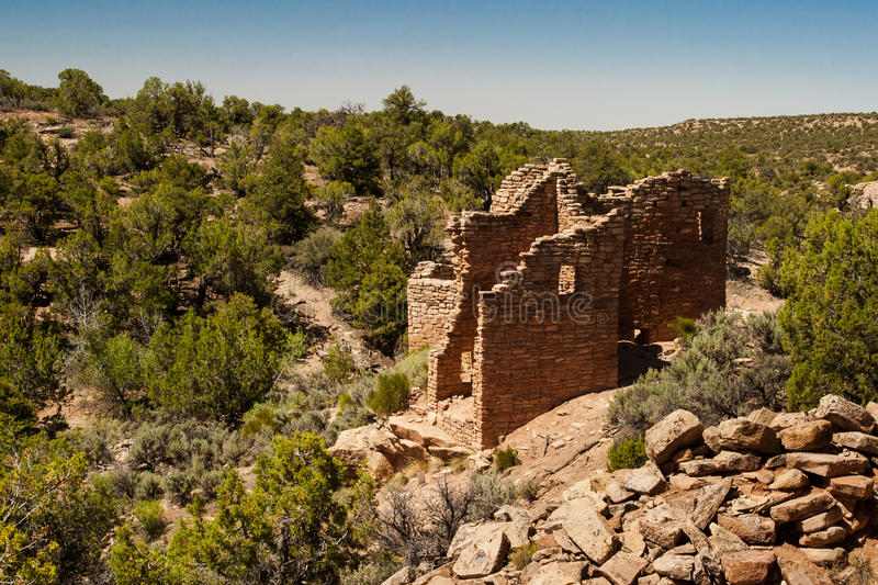 Cutthroat Castle - Hovenweep stock photography