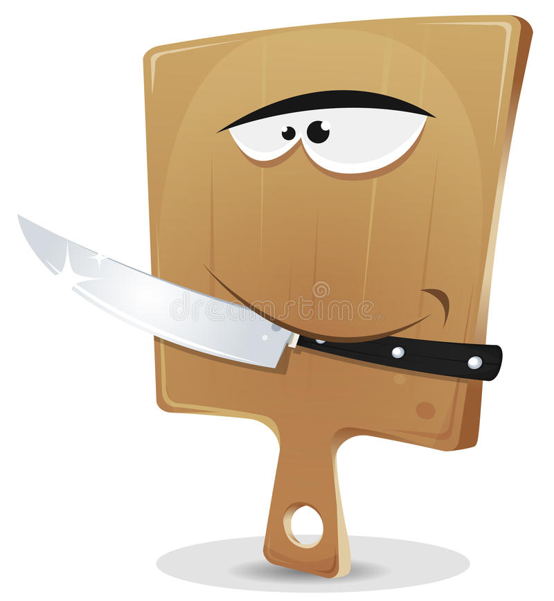 Cutting board and knife stock images image