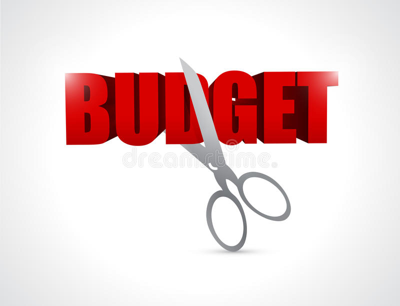 Cutting budget. illustration design vector illustration