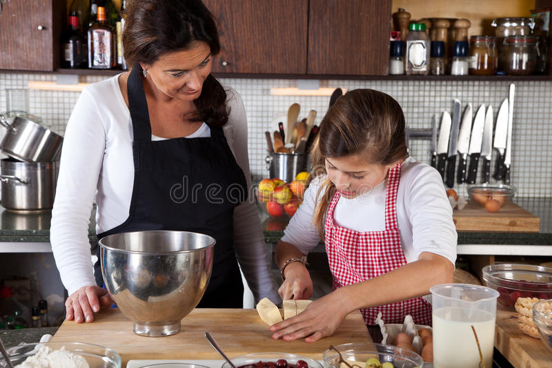 Download Cutting the butter stock image. Image of happy, cutting - 22276711