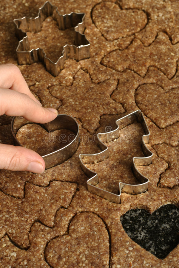 Cutting cookies stock images