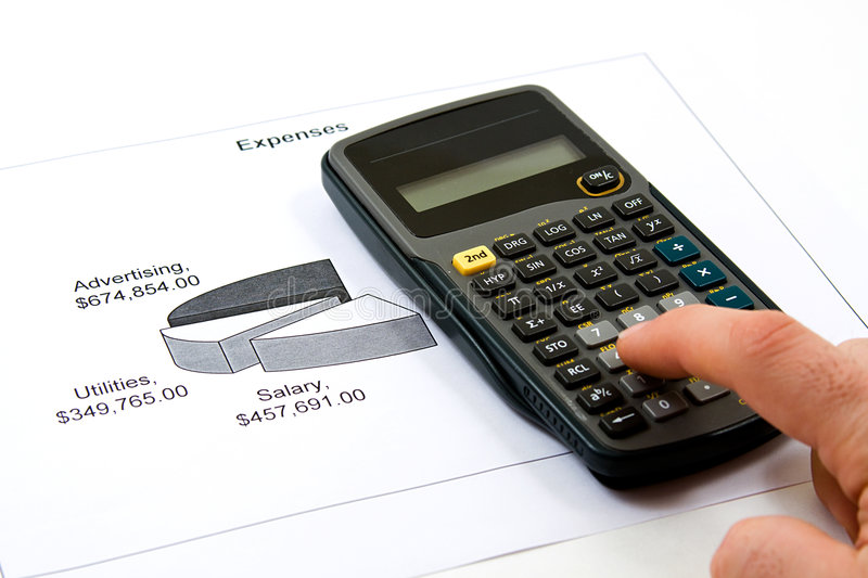 Cutting Cost. Recession Analysis - Cutting Cost to Save Money royalty free stock image