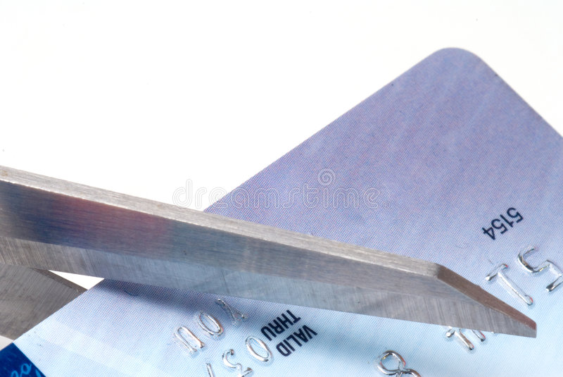 Cutting A Credit Card stock images