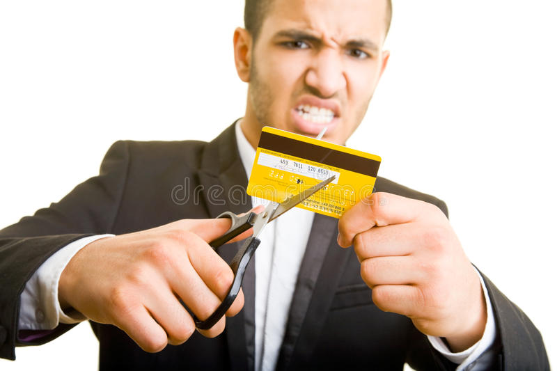 Download Cutting a credit card stock photo. Image of bankrupt, north - 9705942
