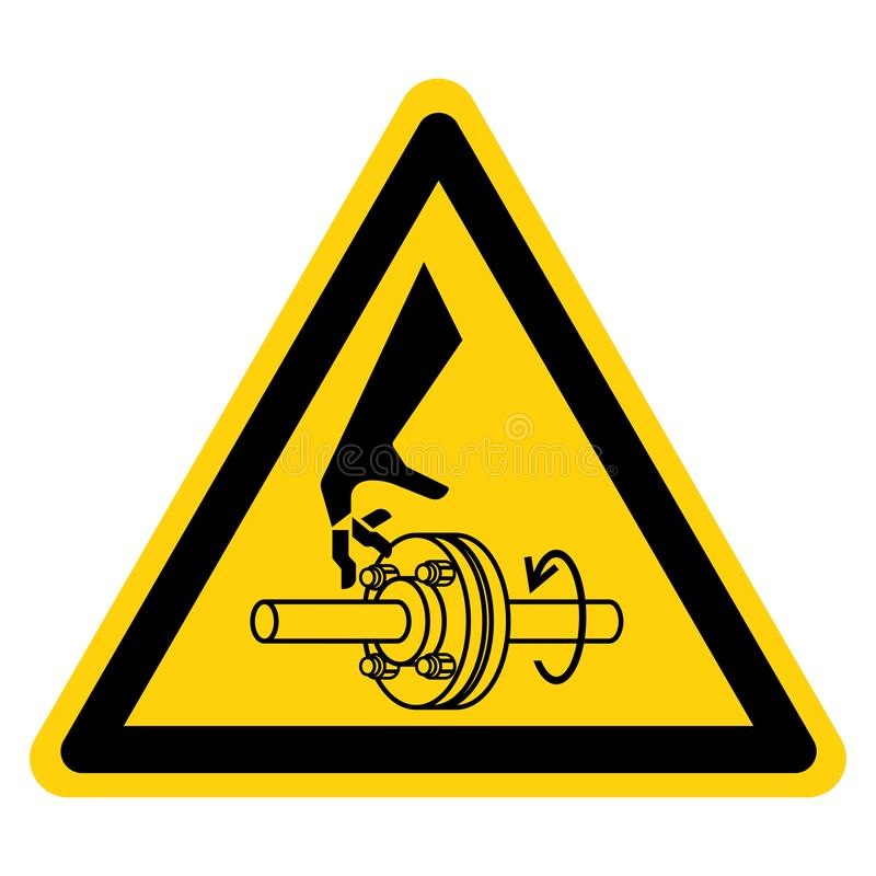 Cutting of Fingers Rotating Shaft Symbol Sign Isolate On White Background,Vector Illustration. Above, accident, area, belt, blade, chain, cog, cogwheel, crush vector illustration