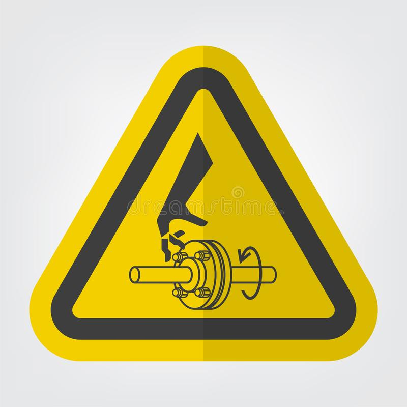 Cutting of Fingers Rotating Shaft Symbol Sign Isolate On White Background,Vector Illustration EPS.10. Above, accident, area, belt, blade, chain, cog, cogwheel vector illustration