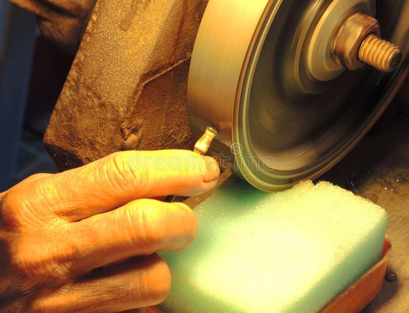 Cutting gemstone stock photography
