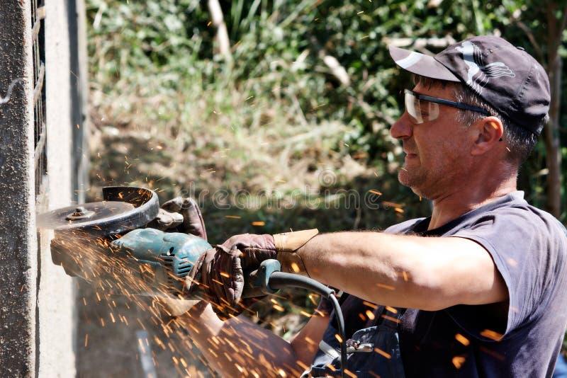 Cutting grinder royalty free stock image
