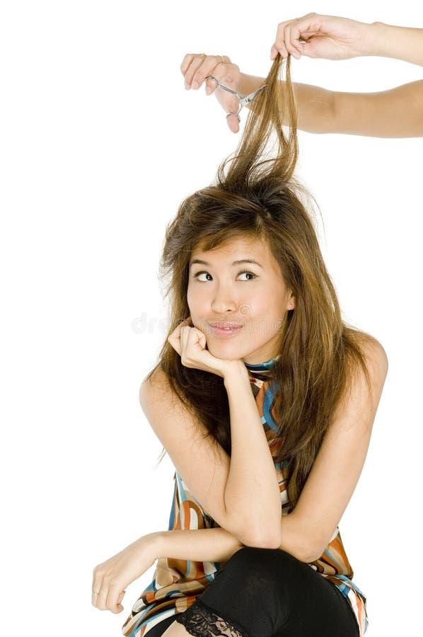 Cutting Hair stock photos