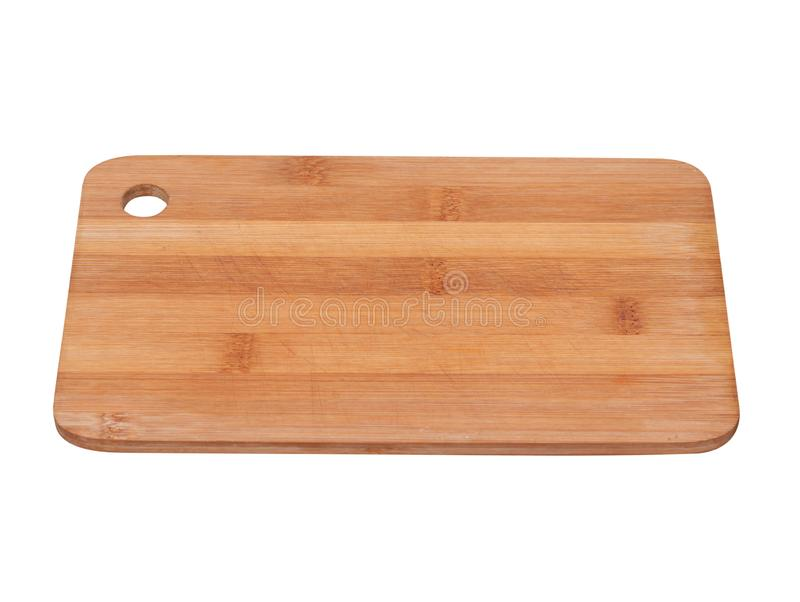Cutting kitchen board on white background stock image