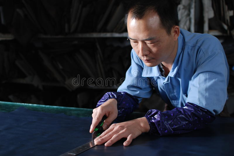 Cutting materials royalty free stock images