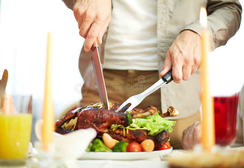 Download Cutting meat stock photo. Image of composition, holiday - 35196988